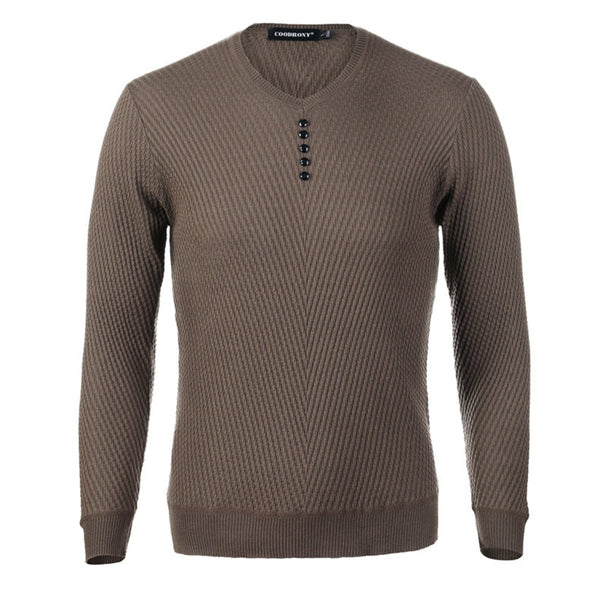 V-Neck Pullover Autumn Slim Fit Long SleeveSweaters