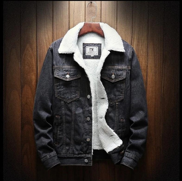 Large Size Wool Liner Thicker Winter Denim Jackets