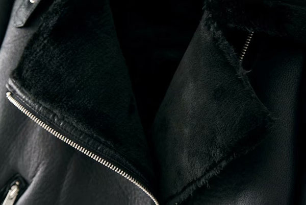 Warm Winter Motorcycle Velvet Jacket