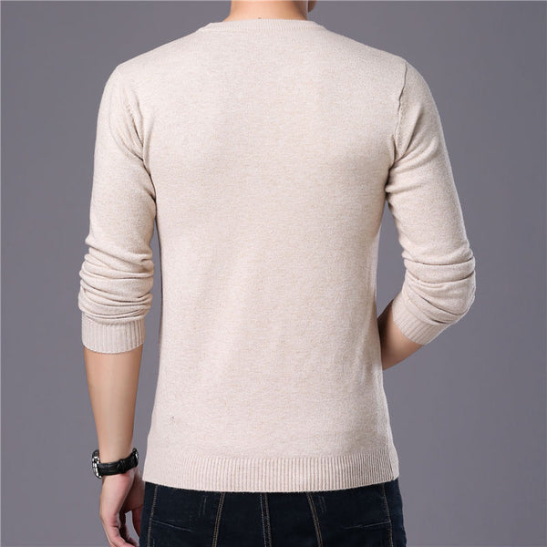 O-Neck Pull Homme Cotton Pullover Sweaters