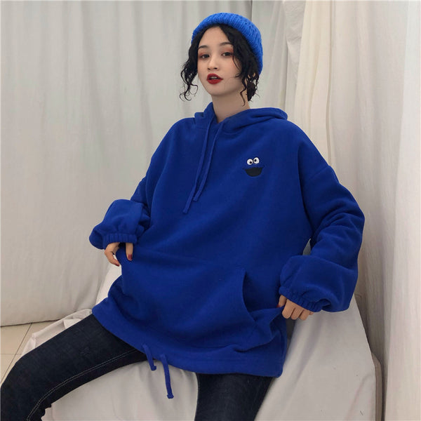 Long Sleeve All-match Embroidered Lovely Streetwear