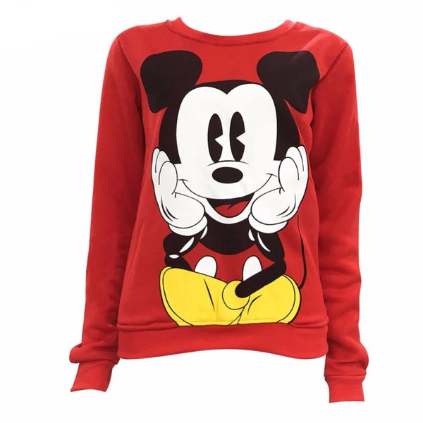 Long Sleeve O-Neck Fleece Women Sweatshirts Hoodies