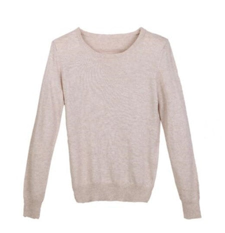 Fall Winter Candy Knit Soft Stretch Sweater
