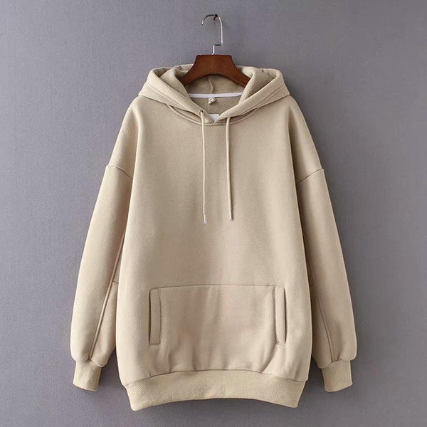 Winter Japanese Fashion Pullovers Warm Pocket Hooded