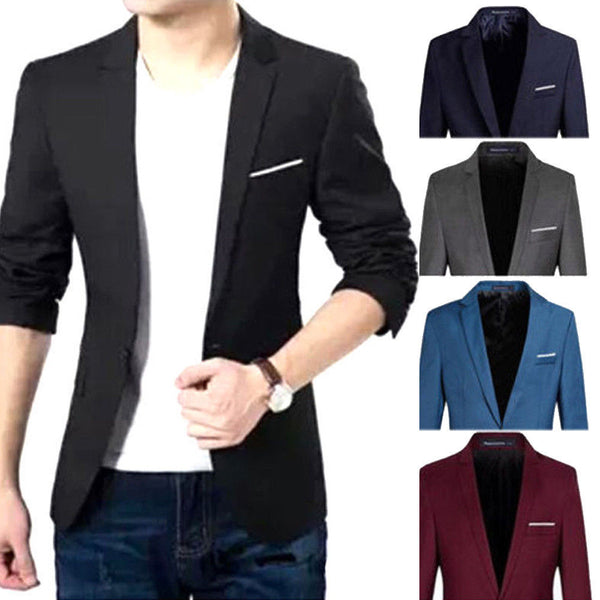 Casual Slim Fit Office Suit Autumn Winter Jacket