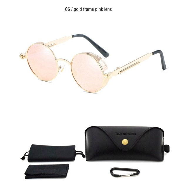 High Quality Vintage Round Metal Frame Sun Glasses