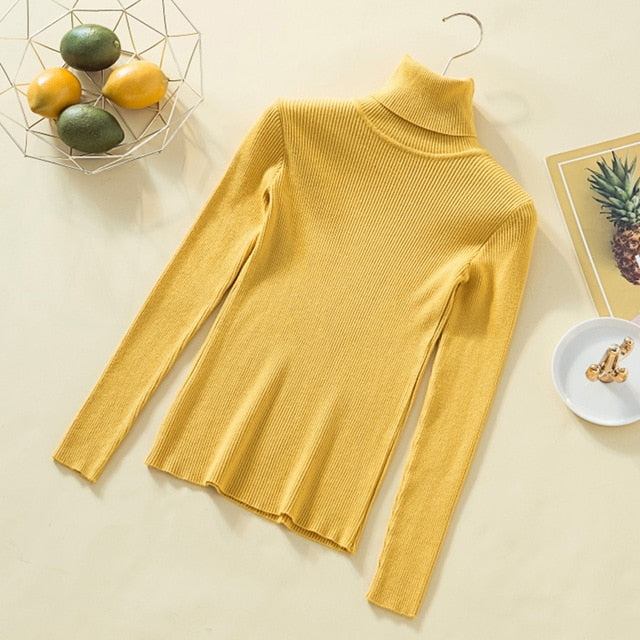 Long Sleeve Vintage Lady's Knitted Sweaters