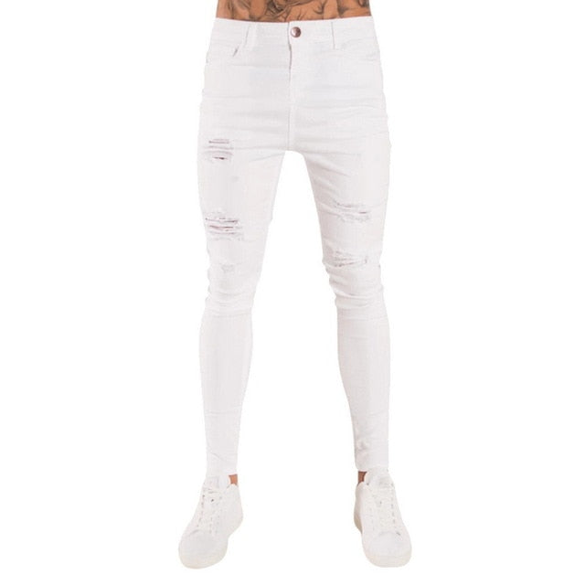 Oeak Mens Solid Color Jeans