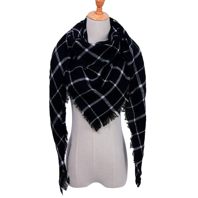 Triangle Scarf Plaid Warm Cashmere Scarves