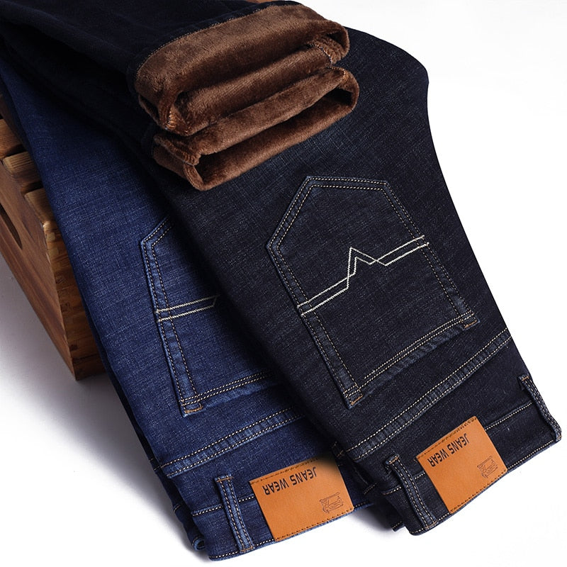 Winter Thermal Warm Flannel Stretch Jeans