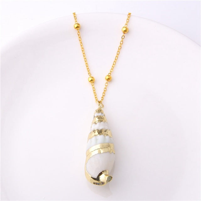 Shell Pendant Necklace For Women