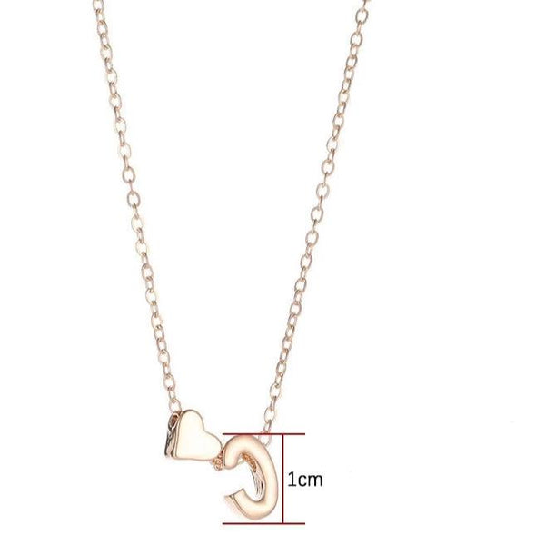 Tiny Heart Dainty Initial Personalized Letter Name Choker Necklace
