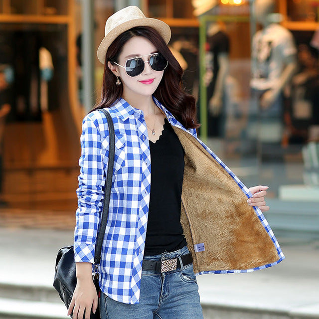 Velvet Thicker Women College Style Casual Jacket