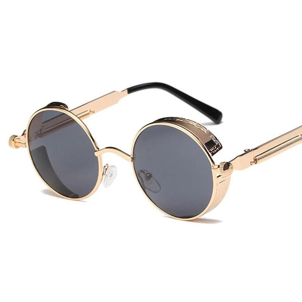 High Quality Metal Round Steampunk Sunglasses