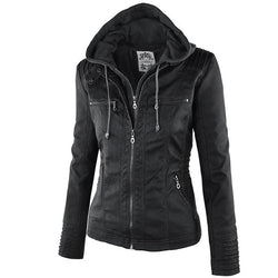 Faux Leather Women Casual Jackets
