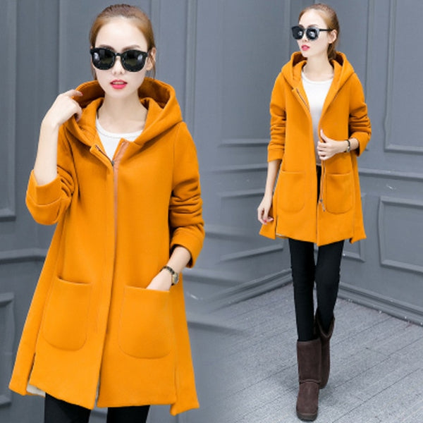 Warm Thick Slim Fit Long Hooded Outerwear Jacket