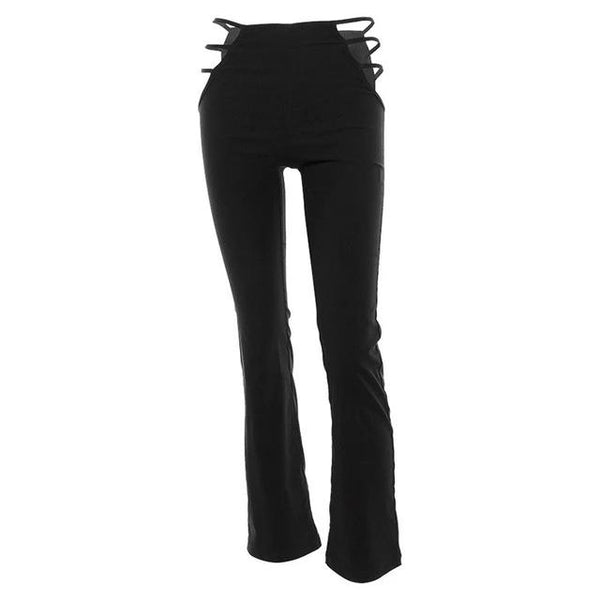 Flare Hollow Out Slim Fitness Sweat Pants