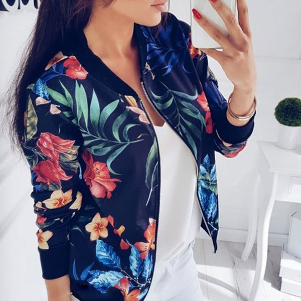 Long Sleeve Outwear Women Basic Jacket