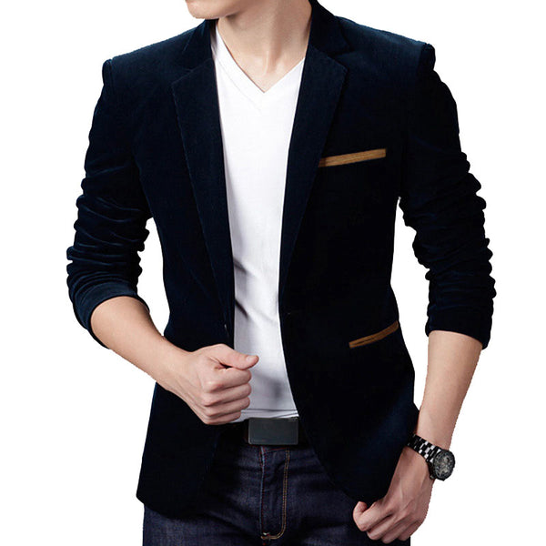 Slim Fit Casual Suit Jacket Men Blazer