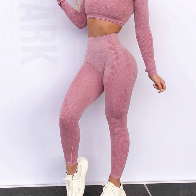 High Waist Seamless Push Up Leggings