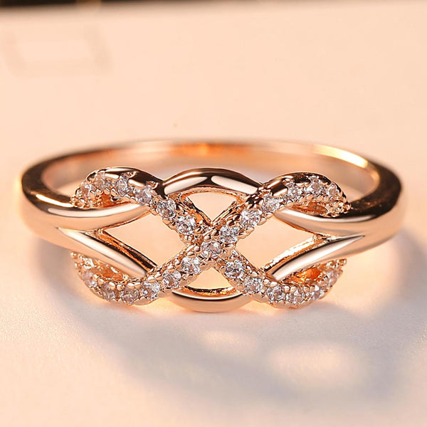 Design Statement Rose Gold Color Wedding Ring