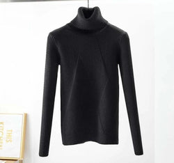Long Sleeve Casual Warm Basic Turtleneck Sweater