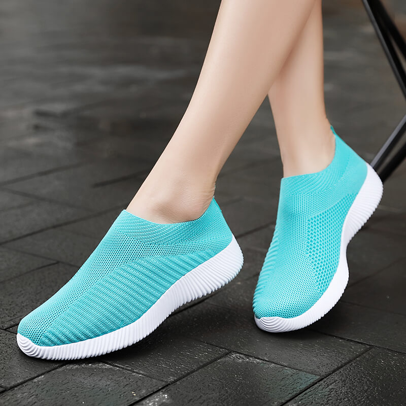 Vulcanized Shoes Sock Sneakers Women Summer Slip On Flat Shoes