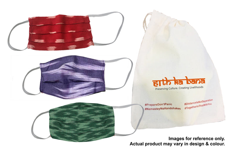 Personal Set of 3 Re-usable Khadi Face masks