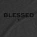 Men's Blessed T-shirt - Charcoal premium fitted crew with black print
