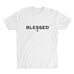 Men's Blessed T-shirt - White premium fitted crew with black print
