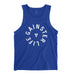 Men's GAINSTER LIFE Tank Top - Royal Blue with White Print