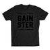 Men's Stacked Straight GAINSTER T-shirt - Black premium fitted crew with black print