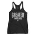 Women's GreaterThreads Tank Top - Vintage Black with White Print