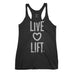 Women's Live Love Lift Tank Top - Black with Vintage White Print
