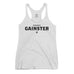 Women's Straight GAINSTER Tank Top - Athletic White with Black Print