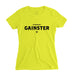 Women's Straight GAINSTER Tee - Neon yellow premium fitted crew with black print