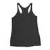 Women's Straight GAINSTER Tank Top - Black with Light Gray Print
