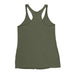 Women's Stacked Straight GAINSTER Tank Top - Army Green with Black Print