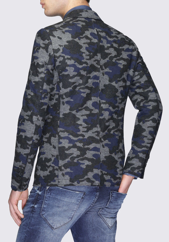 Men's Deconstructed Camouflage Blazer