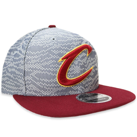 Cleveland Cavaliers Hat New Era Snapback Men's Weave Mix 9FIFTY Adjustable