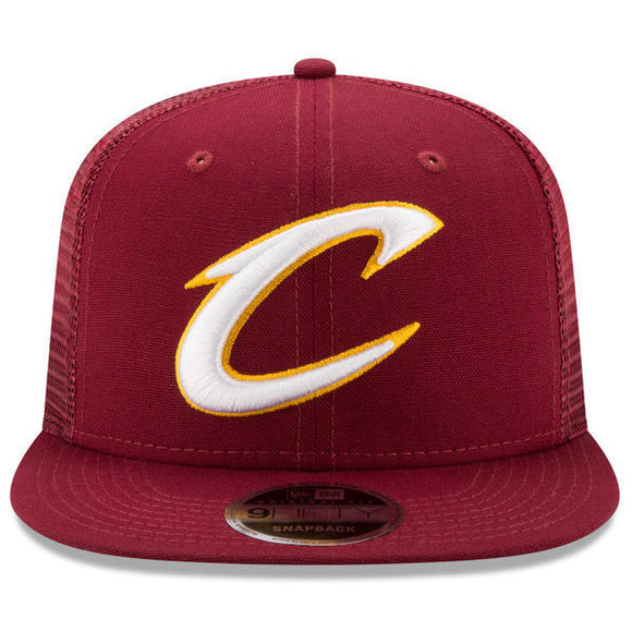 Cleveland Cavaliers New Era Wine Trucker Patched Snapback 9FIFTY
