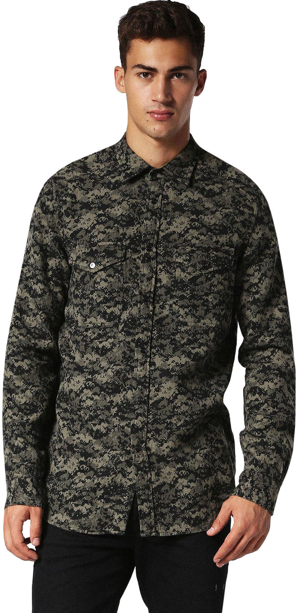 Men's S-Bancs Camouflage Button Up