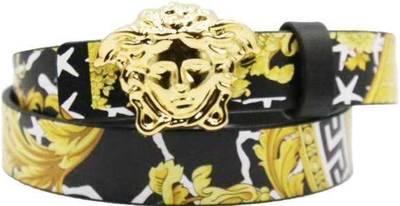 Kids Savage Barocco Print and Medusa Belt