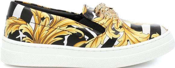 Kids Barocco Print and Medusa Sneaker