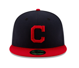 New Era Cleveland Indians Authentic Collection Home 59fifty Fitted Mlb On-field Collection