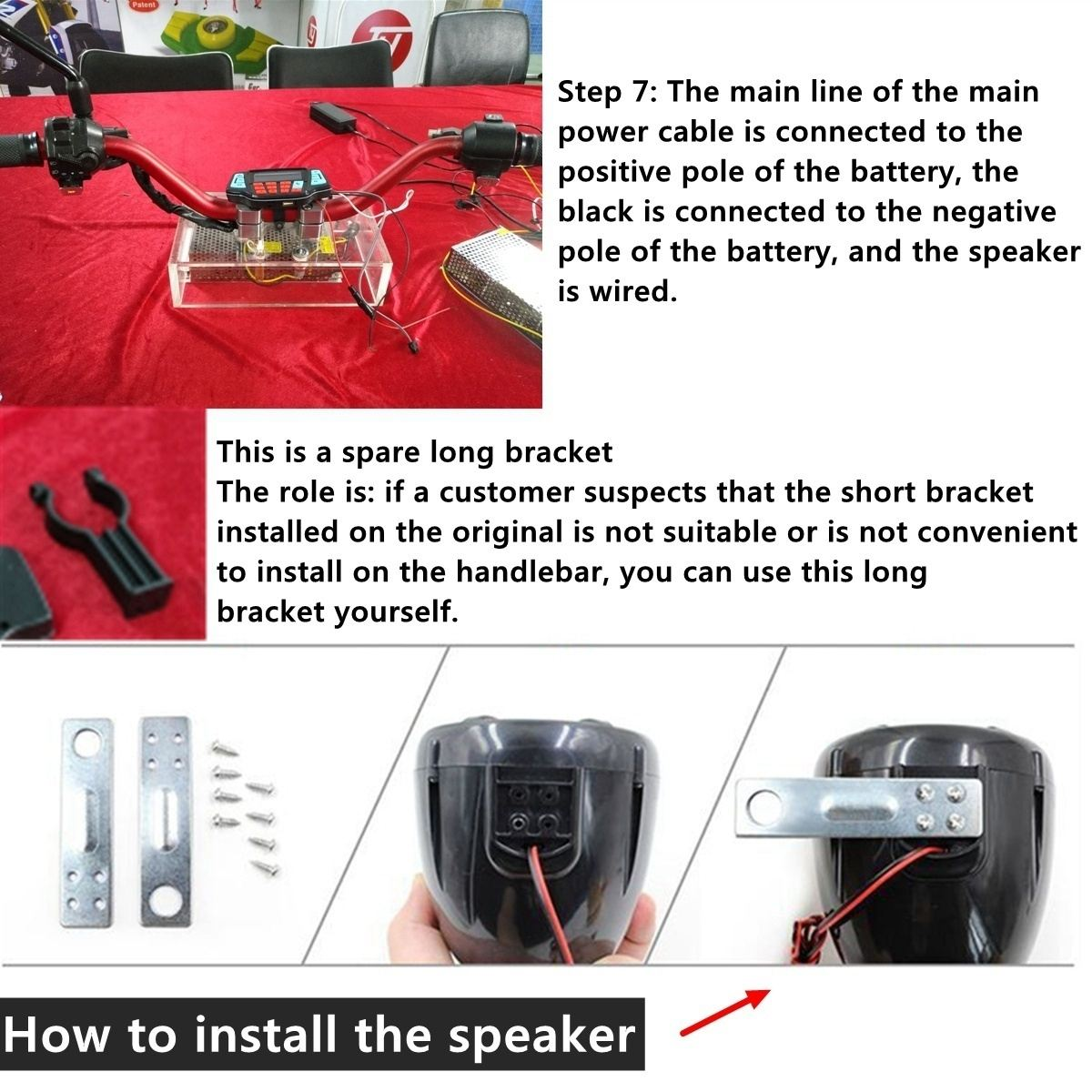 Motorcycle Stereo Speakers Radio Audio