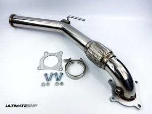 ULTIMATEBHP SKODA OCTAVIA 2.0T T304 DECAT DOWNPIPE EXHAUST 3""