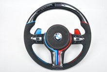 Load image into Gallery viewer, BMW M4 CARBON FIBER STEERING WHEEL WITH LED SHIFT LIGHTS