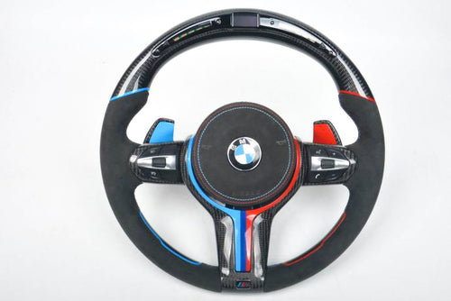 BMW M4 CARBON FIBER STEERING WHEEL WITH LED SHIFT LIGHTS