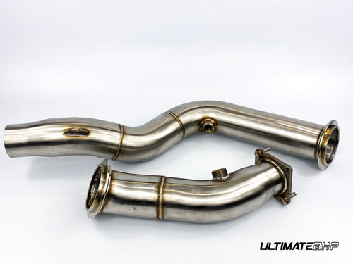 ULTIMATEBHP BMW F80 M3 3″ STAINLESS STEEL DECAT DOWNPIPES EXHAUST PIPE